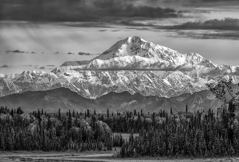 Denali in black and white