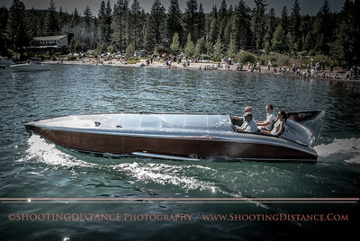 the Hornet II, on Lake Tahoe, 2011 classic wooden boat show