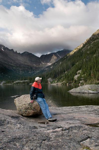 Frank at Mills Lake, Rocky Mountain National Park, Colorado.
