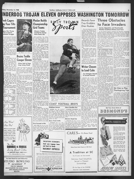 Daily Trojan, Vol. 32, No. 44, November 15, 1940