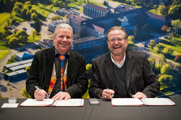 Tyndale - North American Institute for Indigenous Theological Studies Signing Ceremony - Thursday, November 15, 2012