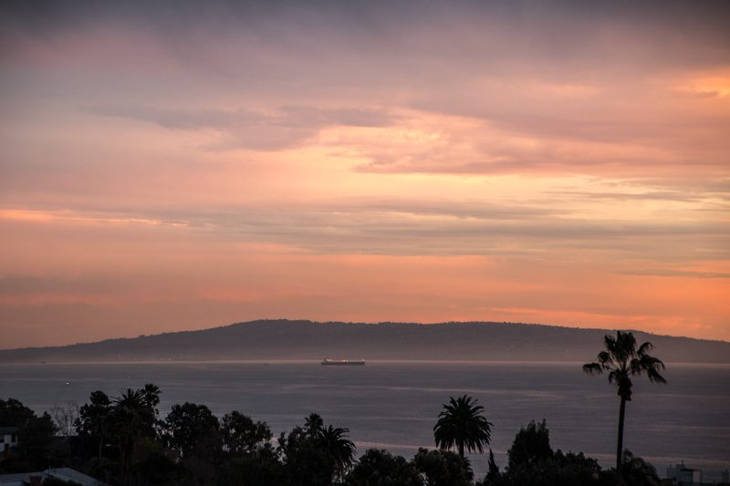 January 13 - Sunset over Palos Verdes, CA before a week of rain storms.jpg