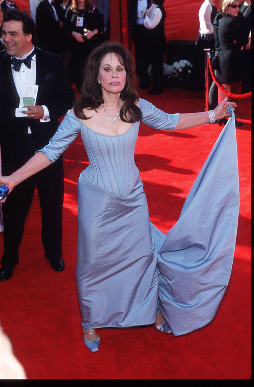 . Actress Karen Black attends the 72nd Annual Academy Awards March 26, 2000 in Los Angeles, CA. Black has starred in many films and received several awards and nominations throughout her acting career. (Photo by David McNew/Liaison)