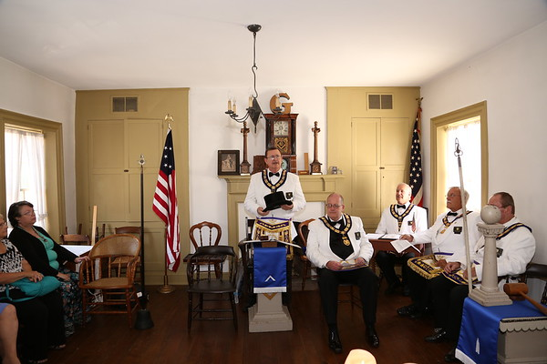 Schofield Lodge 1818 U.D. Installation of Officers by Grand Lodge Officers 07-13-2019