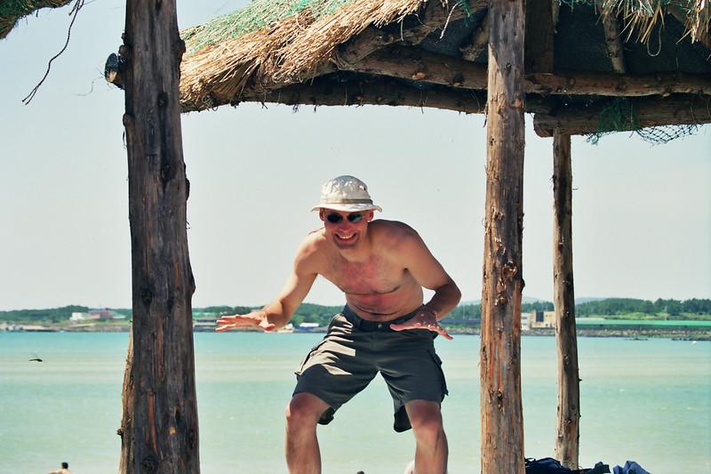 2000 July Rick near Sogwipo sunbathing.jpg