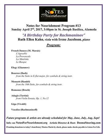 170402 Birthday Party for Rachmaninov - Program