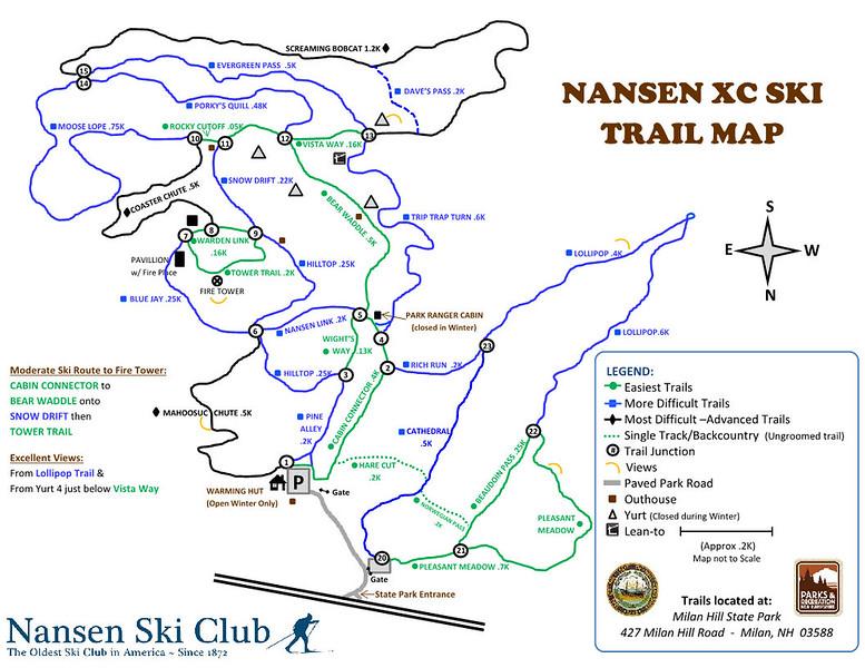 Milan Hill State Park (Nansen XC Ski Trail Map)
