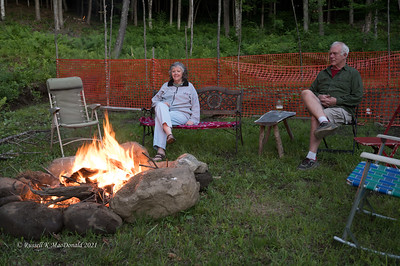 2021-06-23 VT Trip - Bob M fire pit