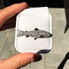 3.00ctw Art Deco Diamond Fish Brooch 3