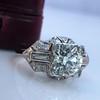 1.95ct Old European Cut Diamond Art Deco Ring, GIA L SI1 4