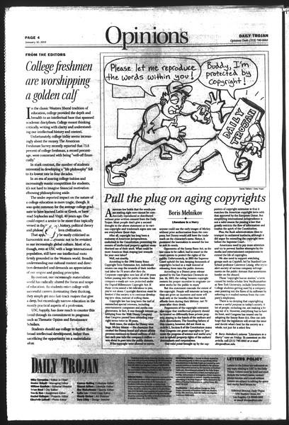Daily Trojan, Vol. 151, No. 12, January 30, 2004