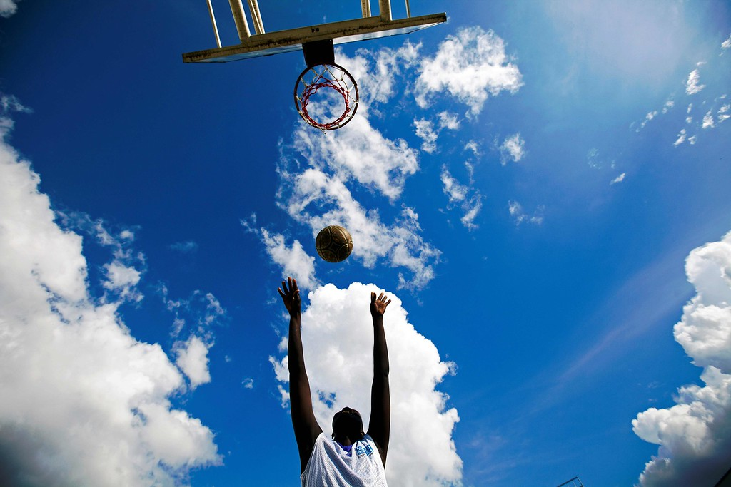 . A member of the South Sudan Wheelchair Basketball Association (SSWBA) plays during the weekly training session at the Basketball Stadium in Juba, South Sudan, on May 17, 2016. The SSWBA, created after South Sudan\'s independence in July 2011, were formed by around 20 members, most of them war victims who lost their legs due to landmines and bullet wounds.  The association wants to expand their activities and organise tournaments around the country and compete in international events, such the Paralympics. The SSWBA has only 15 basketball wheelchairs donated by the International Committee of the Red Cross (ICRC). ALBERT GONZALEZ FARRAN/AFP/Getty Images