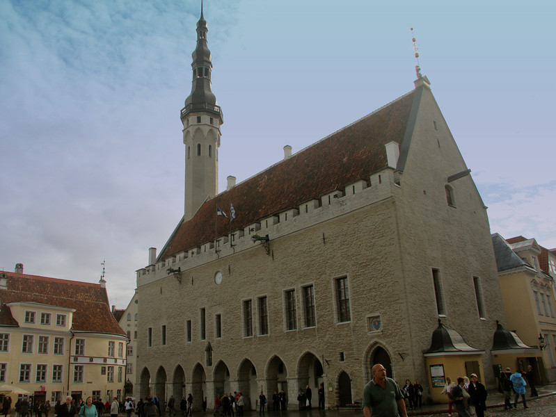 Town Hall - the center of civic rule from the Middle Ages to the early 20th century Though a previous town hall stood here at least as far back as 1322, the imposing Gothic building of today dates to 1404. -Tallinn, Estonia
