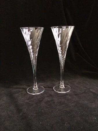 orrefors fluted glasses