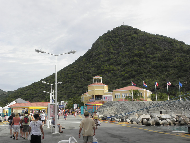 Stepping off the pier in Philipsburg, Sint Maarten.JPG
