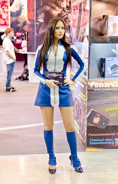 Space Rangers girl at Igromir 2011
