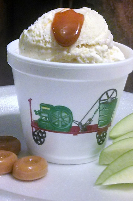 . Caramel Apple Ice Cream � R&R Ice Cream\'s own tractor-churned vanilla ice cream infused with real caramel and diced Granny Smith apples � a blend of sweet and tart. At R&R Ice Cream, on Randall Avenue at Underwood Street. (Courtesy of Minnesota State Fair)