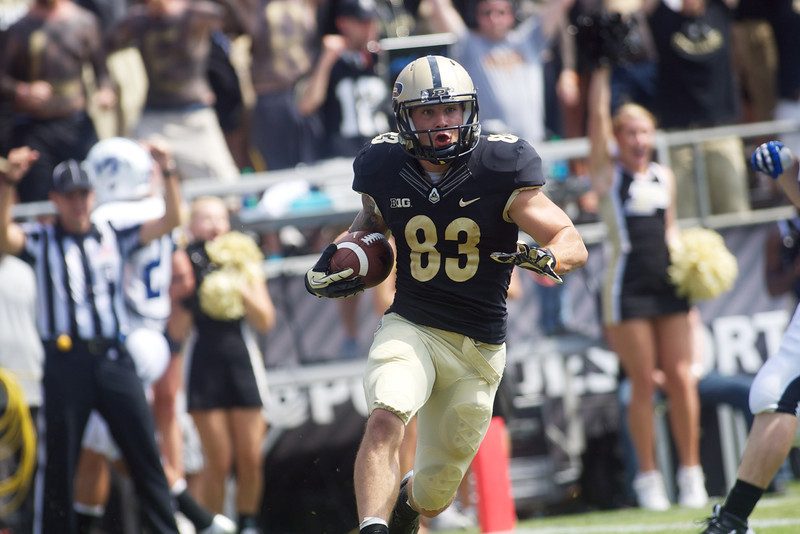 BJ Knauf rushes in for a touchdown in Purdue's game against Indiana State.