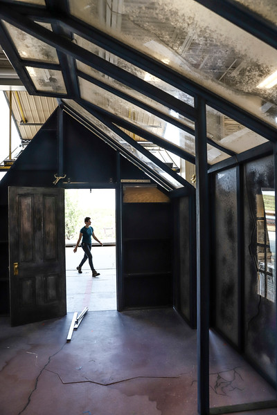 The Santa Fe Opera prepares for 2019 season by creating sets, designing outfits and rehearsing in June 2019. Gabriela Campos/The New Mexican