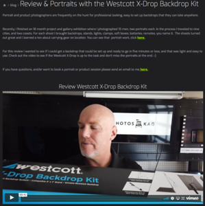 Review & Portraits with the Westcott X-Drop Backdrop Kit