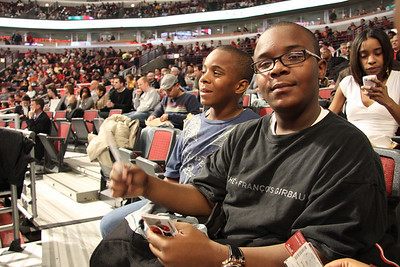 Bulls Vs. Nets Game w/my Nephews