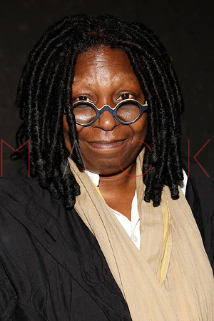 """NEW YORK, NY - DECEMBER 04:  Whoopi Goldberg visits """"A Christmas Story, The Musical"""" on December 4, 2012 in New York City."""