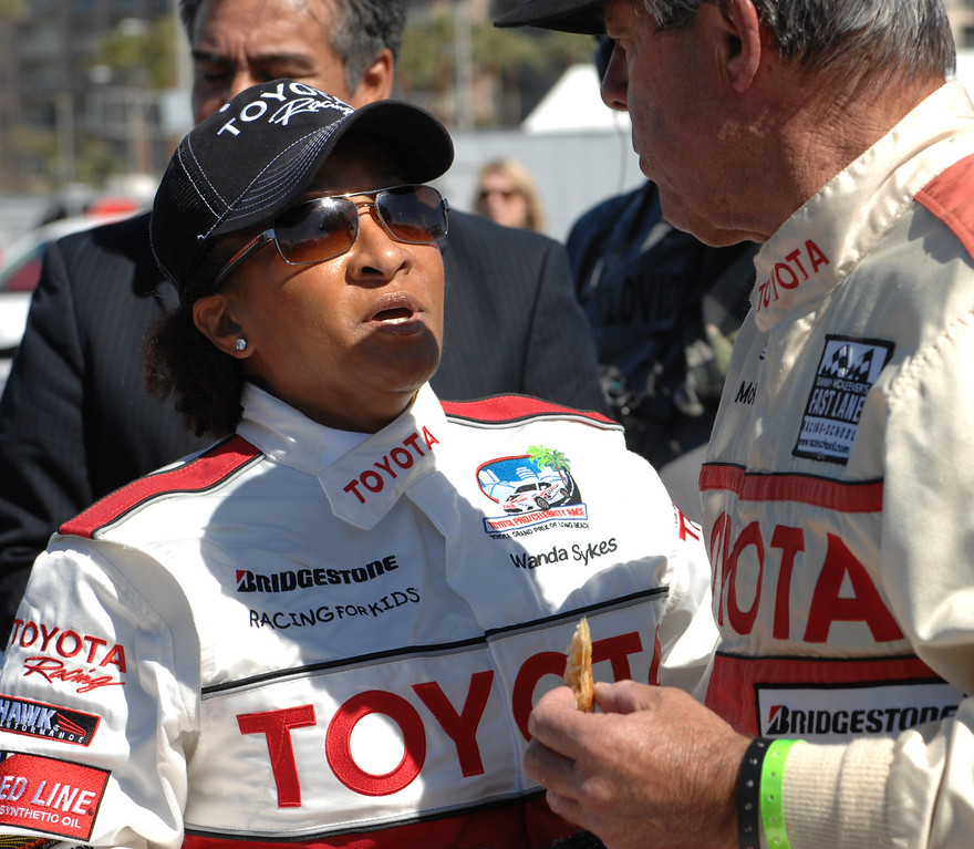 . 4/9/13 - Wanda Sykes during media day for the 39th Annual Toyota Grand Prix of Long Beach. The celebrity/pro races spent the day practicing on the track, joking with their racing partners and giving interviews. Photo by Brittany Murray / Staff Photographer