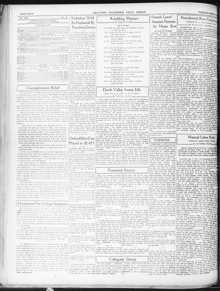 Daily Trojan, Vol. 22, No. 98, March 03, 1931