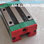 SKU: AM-BLOCK/HGH20CA, HiWin HGH20 Series 20CA Rail Square Linear Guideway Carriage fir EasyRoute CNC Router