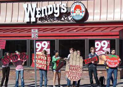 """Fair Food Program"" Wendy's Protest"