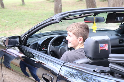 Justin and his Dad's Convertible