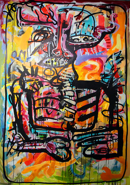 229 - Morning dream of a lost monkey - 200x130cm.jpg