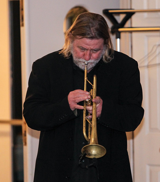 February 23, 2019: Strangers Band trumpet player Vince McCool performs during the Winter Dinner/Dance Christmas in April event in Clinton. Photo by: Chris Thompkins/Prince George's Sentinel