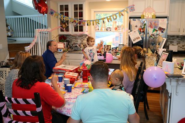 Avie Paulson 3rd Birthday Party Oct 4, 2017