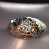 0.94ctw Vintage Old European Cut Diamond Dome Ring, Center OEC (GIA .59ct G SI2) 13