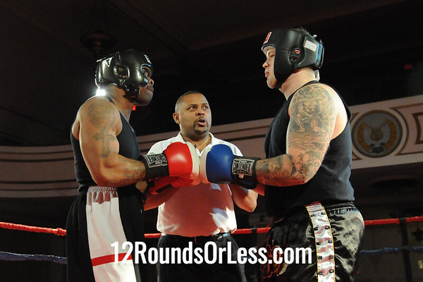 Bout 5 Jeff Hughes, Evolve MMA, Canton -vs- Jonathan McNeil, MJ Zone Rec, Cleveland-Heavy, Novice