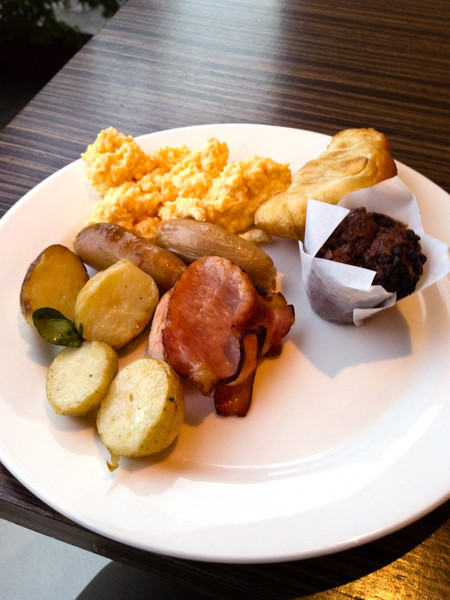 Breakfast at the Novotel Canberra's buffet