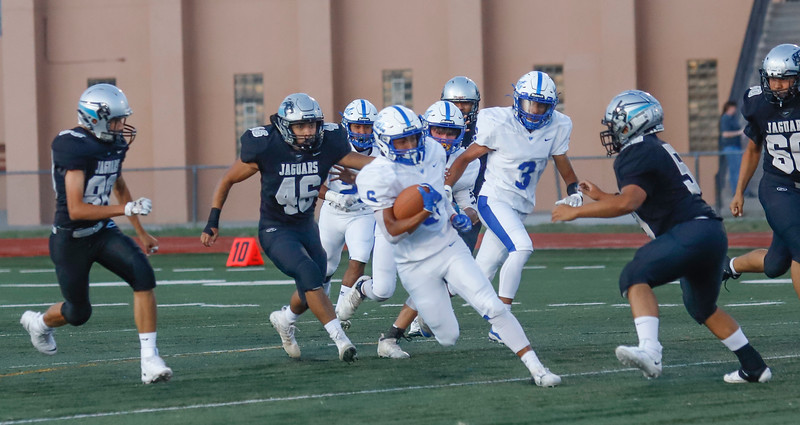 Capital faces off with the Lovington Wildcats on Friday September 6,2019. Lovington beat Capital 42-26. Gabriela Campos/The New Mexican