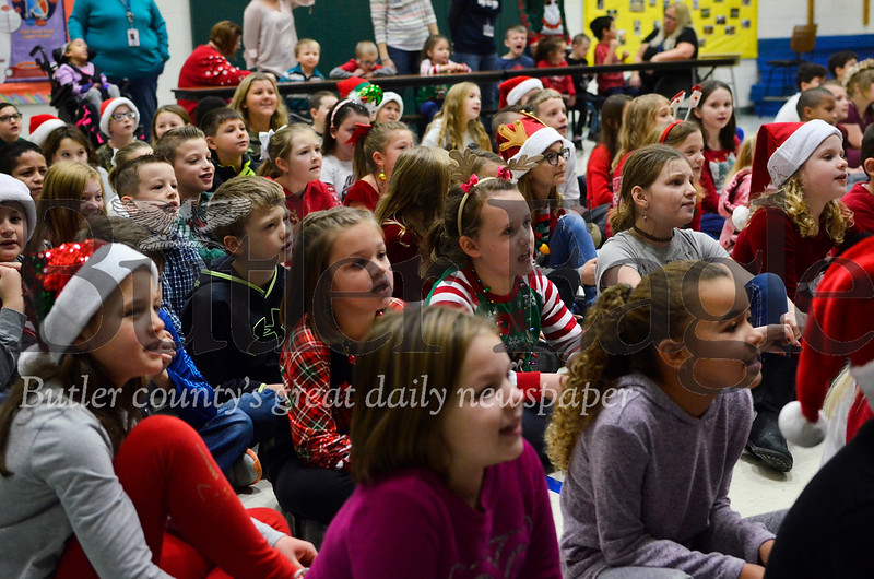 All of Northwest Elementary School's students gathered together Friday morning to sing Christmas songs as a group. Tanner Cole/Butler Eagle