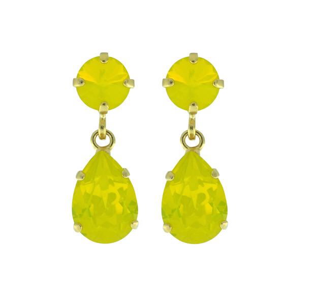 Mini Drop Earrings / Yellow Opal