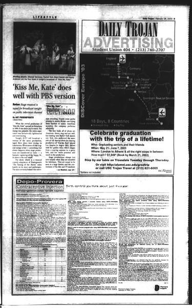 Daily Trojan, Vol. 148, No. 28, February 26, 2003