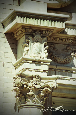Architectural details on the G M & O building in downtown Mobile, AL.