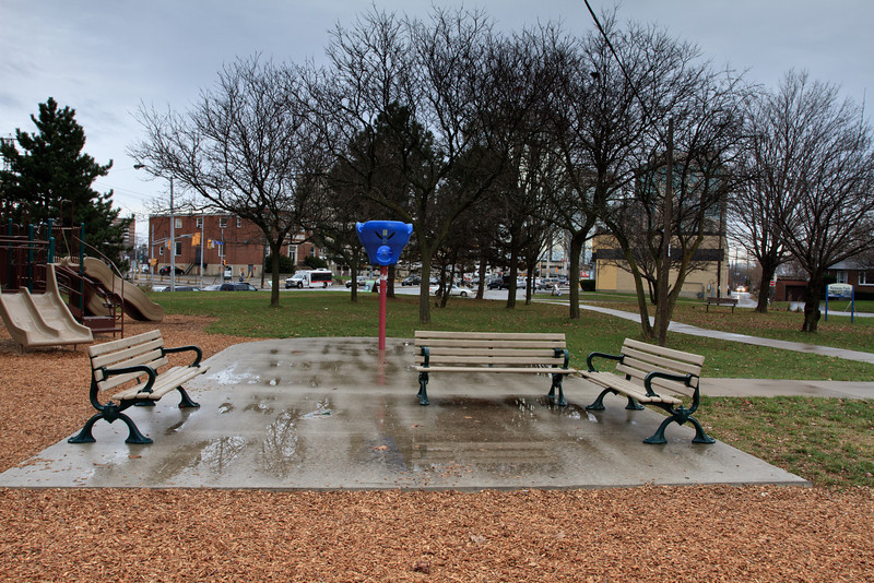 Kenway Park in the Rain