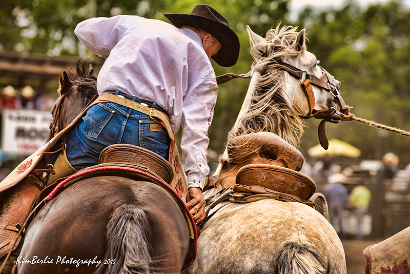 Rodeo Saddle Bronc Pick Up