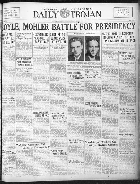 Daily Trojan, Vol. 23, No. 139, May 05, 1932