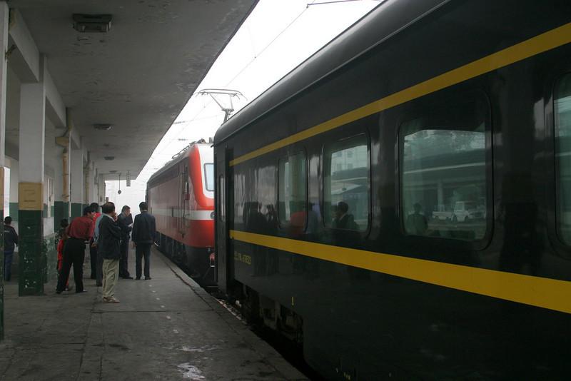 arriving in Xian Qinghai -Beijing to Tibet Railway, Beijing to Lhasa  Oct  2006