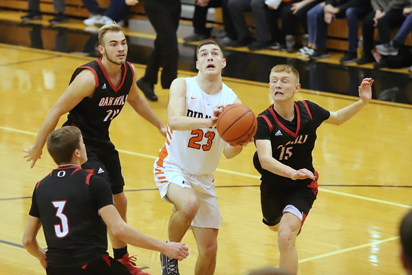 16V Boys Basketball:  Oak Hill at Wheelersburg 2020