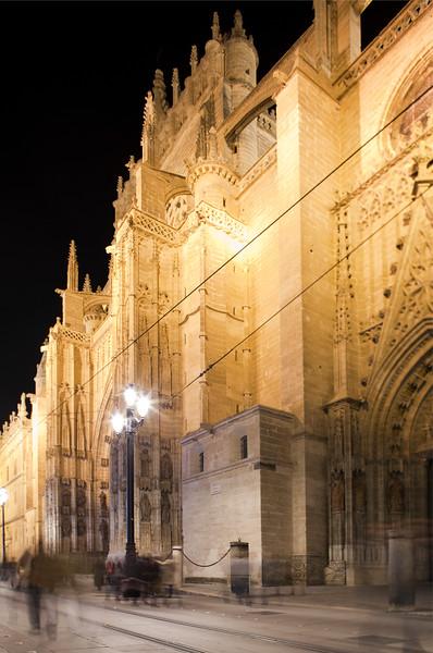 West facade of Santa Maria de la Sede Cathedral, Seville, Spain