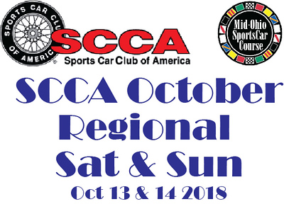 2018 SCCA October Regional at Mid Ohio