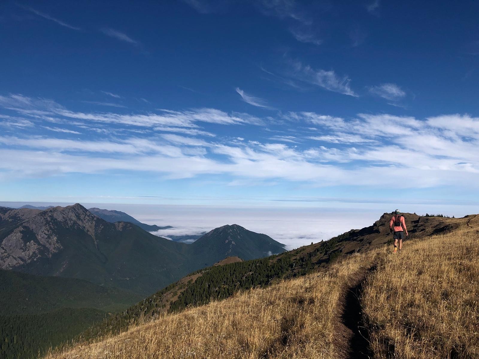 Ryan running the summit trail